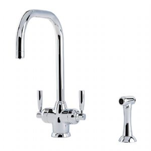 1545 Perrin & Rowe Mimas Sink Mixer Tap with Filtration, Rinse and U Spout